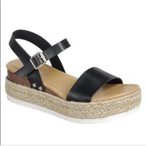 JUST IN ‼️BLACK ESPADRILLE PLATFORM SANDALS- Shoe